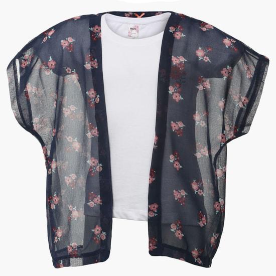 MAX Mock Floral Shrug top