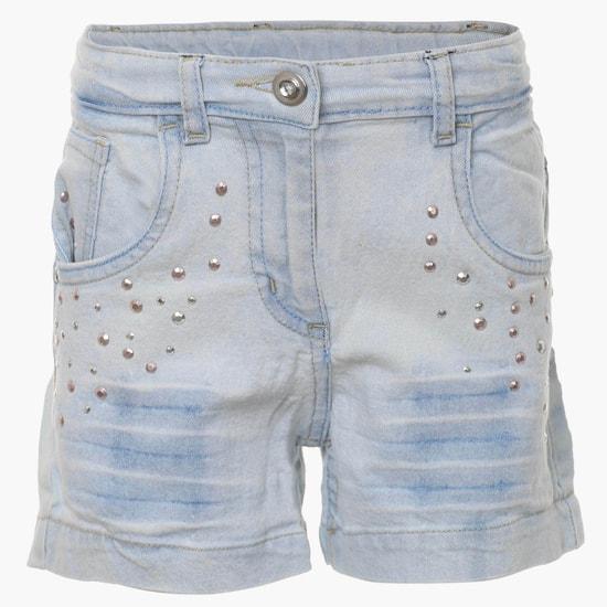 MAX Studded Denim Shorts