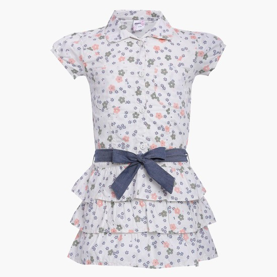 MAX Floral Print Tiered Top