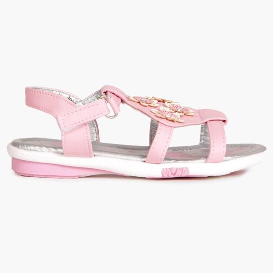MAX Floral Applique Casual Sandals