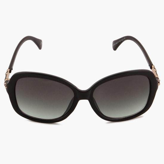 MAX Metallic Trim Wayfarer Sunglasses