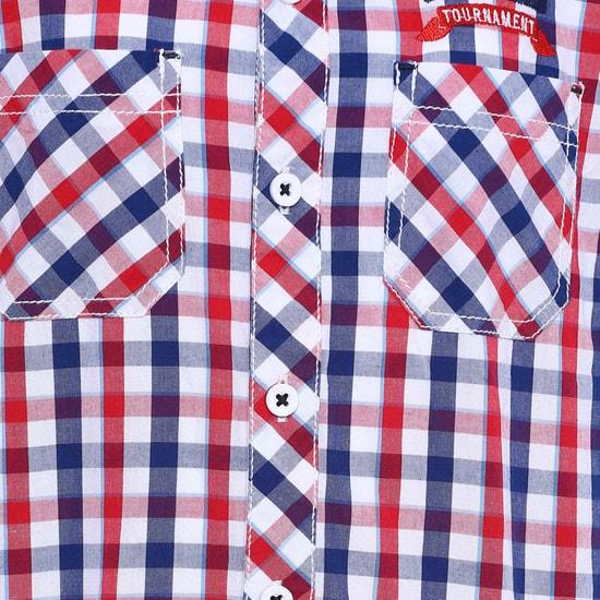 MAX Gingham Checks Short Sleeves Shirt