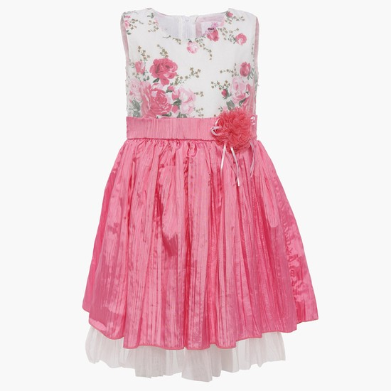 MAX Floral Print Layered Party Dress