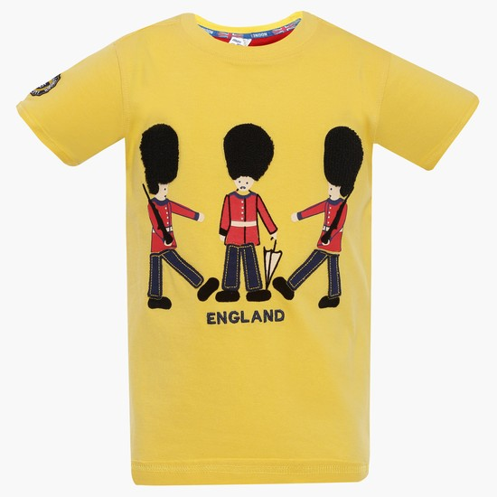MAX England Applique Crew Neck T-Shirt