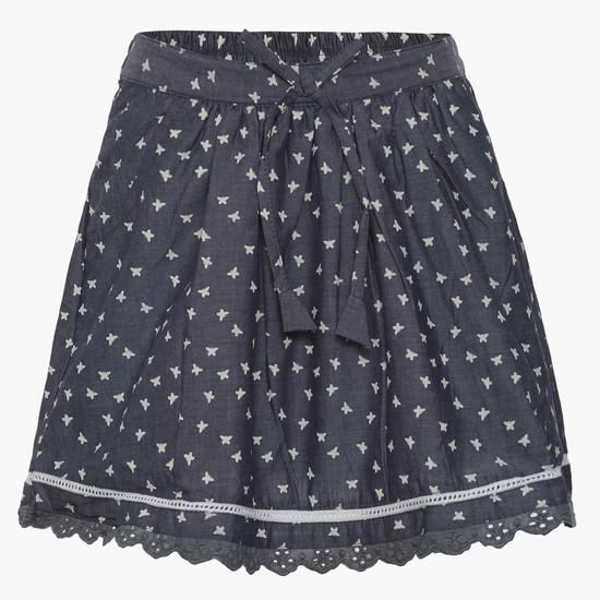MAX Printed Chambray Skirt