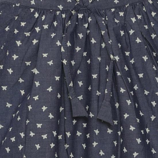 MAX Printed Chambray Skirt