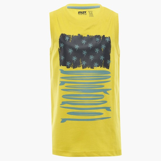 MAX Chest Imprint Sleeveless T-Shirt