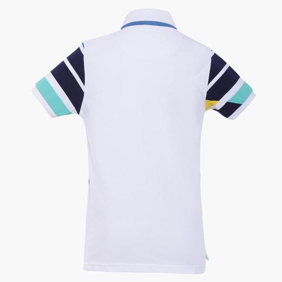 MAX Striped Polo Neck T-Shirt