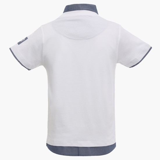 MAX Chest Imprint Layered T-Shirt