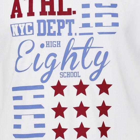 MAX Chest Imprint Raglan Sleeves T-Shirt