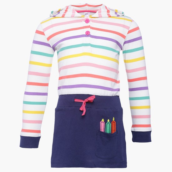 MAX Striped Hooded Top