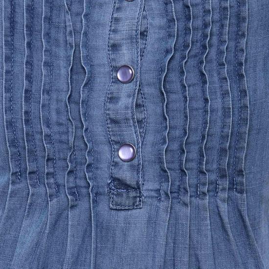 MAX Denim Texture Top
