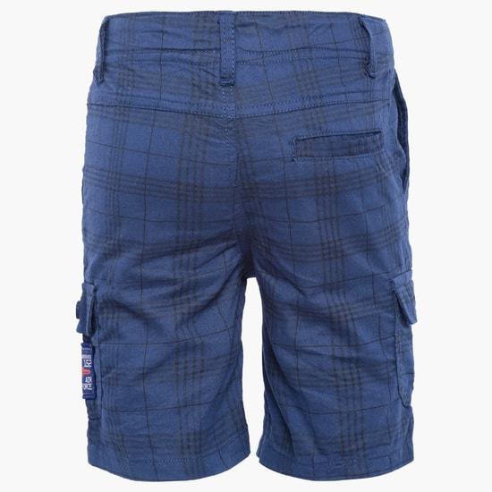 MAX Plaid Print Shorts