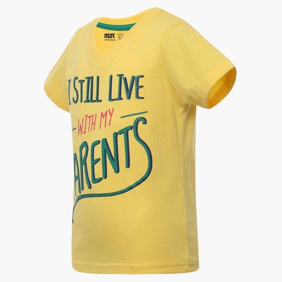 MAX Graphic Print V Neck T-Shirt