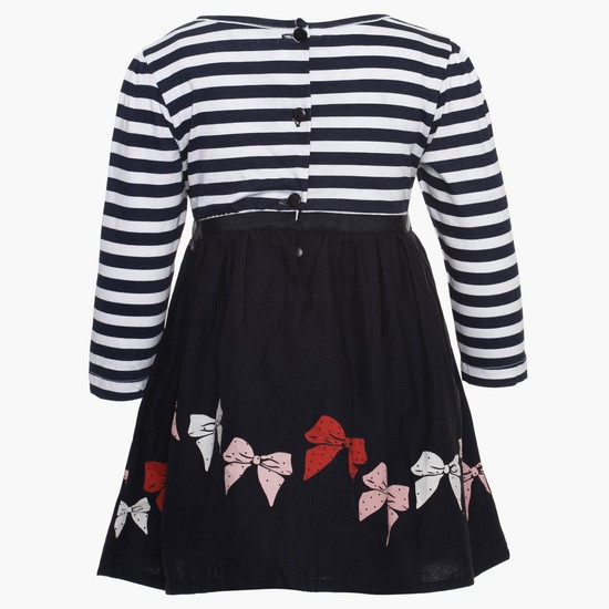 MAX Stripes & Bow Cotton Dress