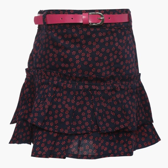 MAX Printed Tiered Skirt
