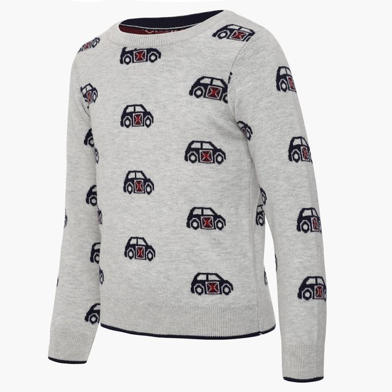 MAX Car Knit Full Sleeves Sweater