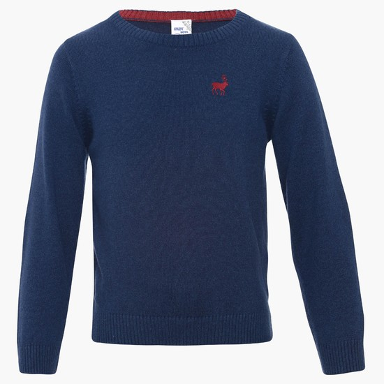 MAX Full Sleeves Crew Neck Sweater