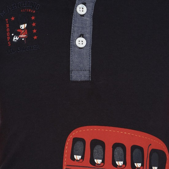 MAX Red Bus Hooded T-Shirt