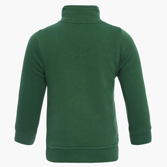 MAX Kangaroo Pocket Zip-Up Neck Sweatshirt