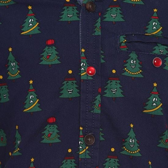 MAX Christmas Tree Print Full Sleeves Shirt