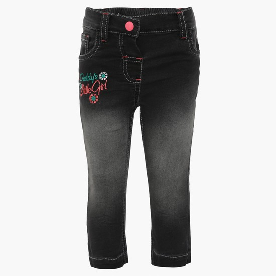 MAX Embroidered Five Pocket Jeans