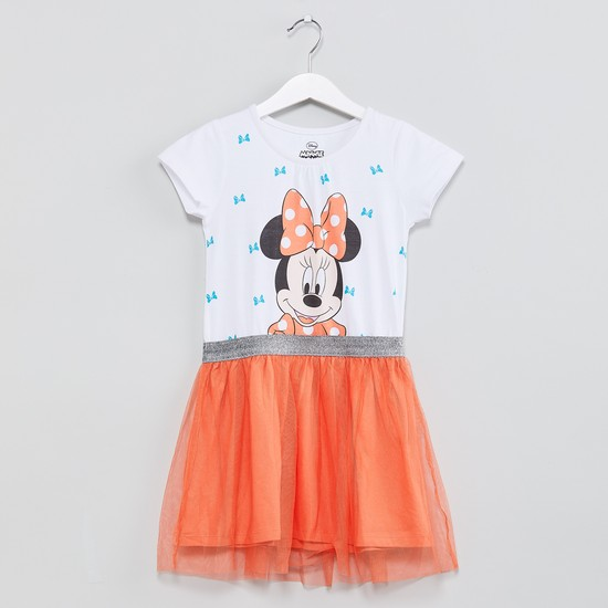 MAX Minnie Mouse Print Tulle Dress