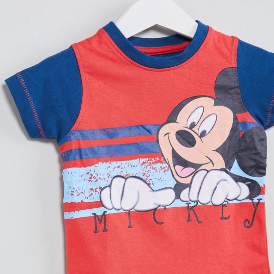 MAX Mickey Mouse Print T-shirt