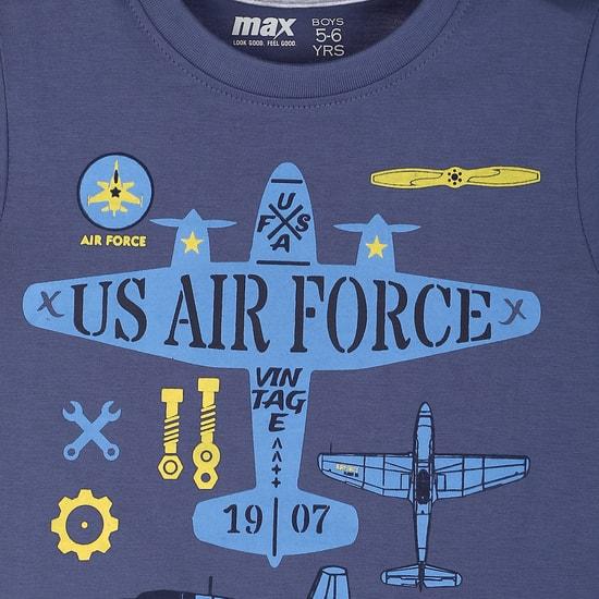 MAX Printed T-Shirt And Printed Pants Sleep Set