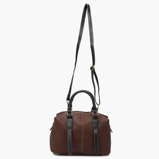 MAX Textured Buckle Detail Duffel Bag