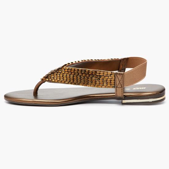 MAX Embellished Elastic Back-Strap Sandals