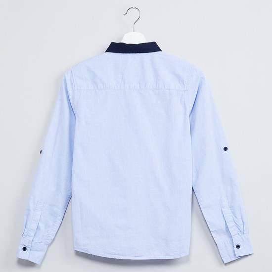 MAX Contrast Collar Shirt with Bow