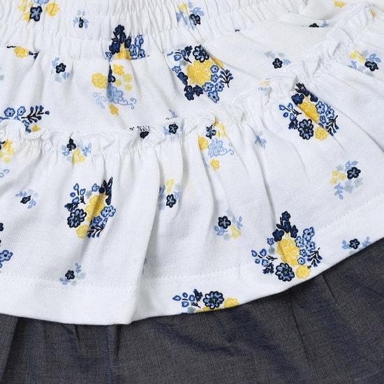 MAX Floral Printed Layered Circular Skirt