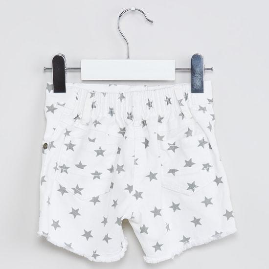 MAX Star-Shaped Print Shorts