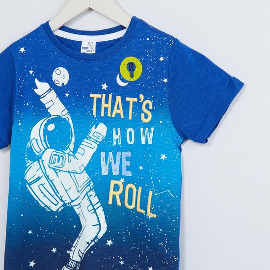 MAX Astronaut Print Crew Neck T-shirt