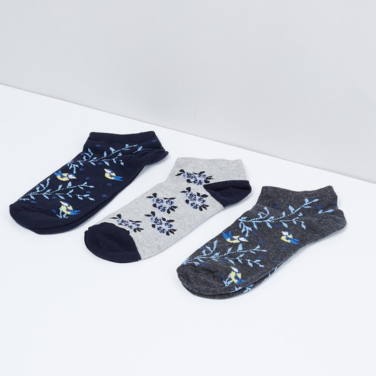 MAX Printed Anklet Socks - Pack of 3 Pcs.