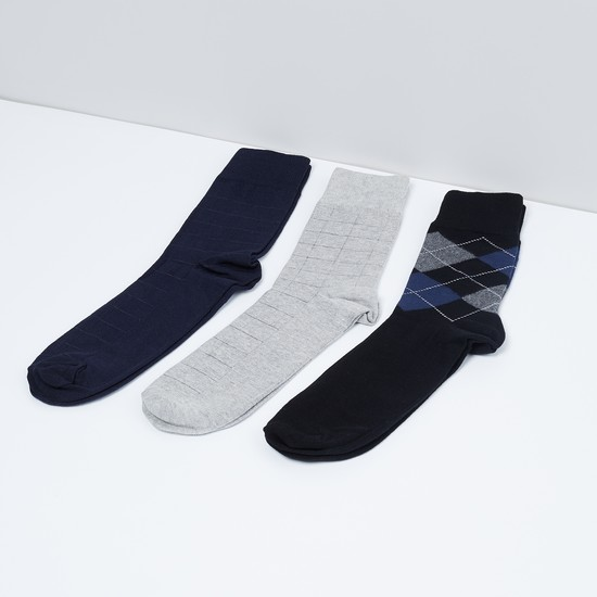MAX Patterned Knit Socks - Pack of 3 Pcs.