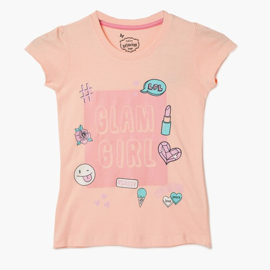 MAX Glam Girl Graphic Print Top
