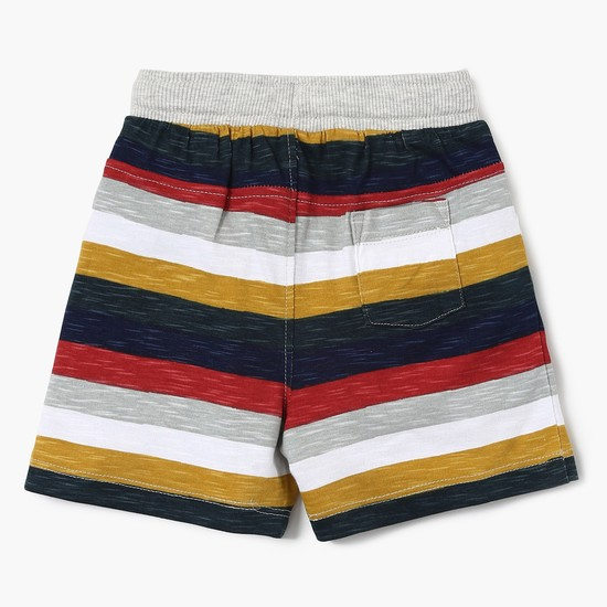 MAX Striped Shorts With Applique Detail