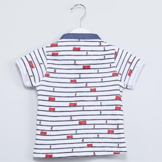 MAX Printed Henley Neck T-shirt