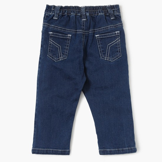 MAX Stonewashed Low-Rise Slim Fit Jeans