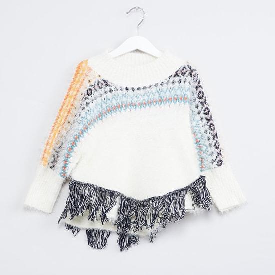MAX Fuzzy Tasselled Sweater