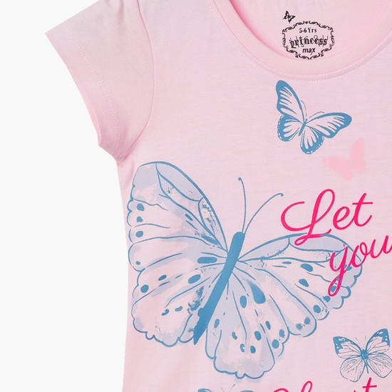 MAX Butterfly Graphic Print Top