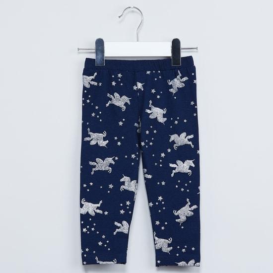 MAX Unicorn Print Shimmery Leggings