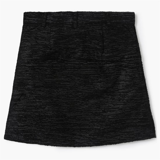 MAX Scoop Pocket Slub-Knitted Skirt