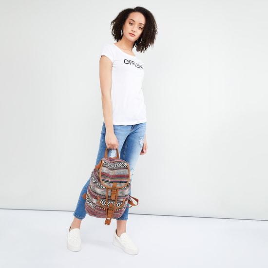 MAX Jacquard Drawstring Backpack