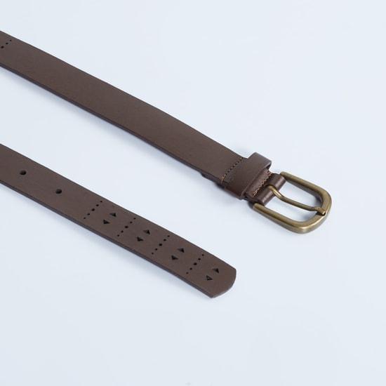 MAX Laser Cut-Out Solid Belt
