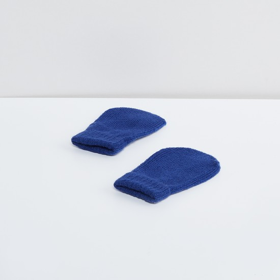 MAX Jacquard Knitted Beanie with Mittens