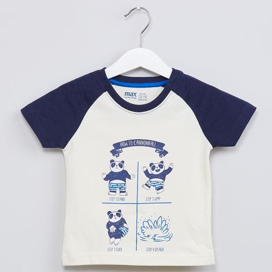 MAX Panda Raglan Sleeves T-shirt