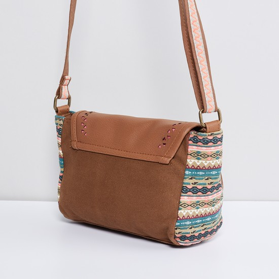 MAX Printed Flap -over Sling Bag